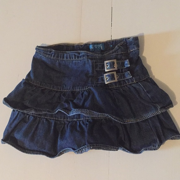 Children's Place Other - Ruffle jean skirt